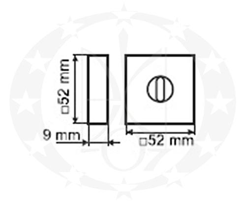 Накладка PLT-26-WC-LPS01-KW WC креслення розміри