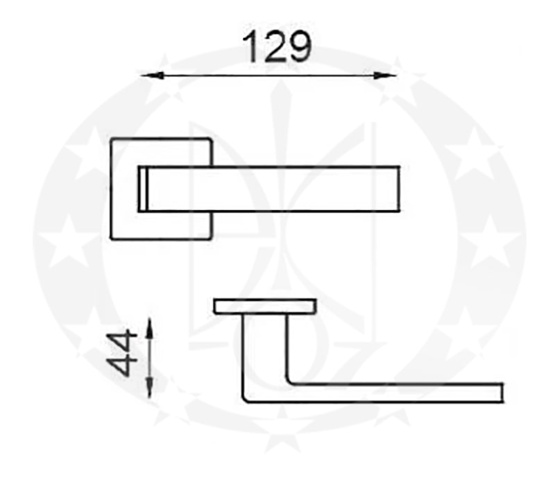 Ручка QUATTRO 02-Z VIS WC ZNE креслення