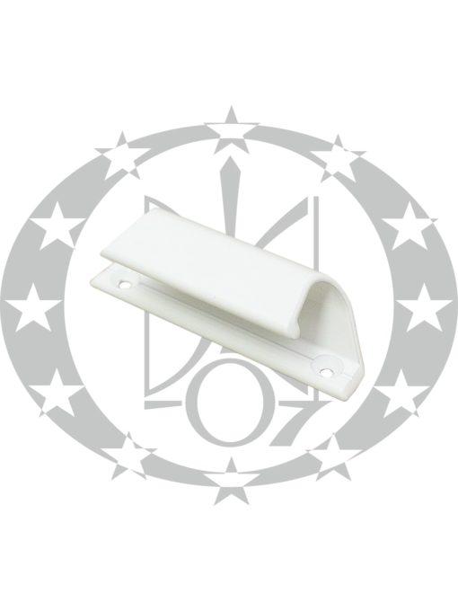 Ручка на балконні двері Ракушка AL зовнішня біла