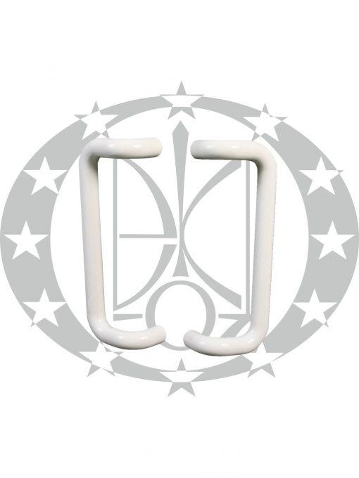 Антаба на металопластикові двері PBA art.322 пряма біла (30/300mm)