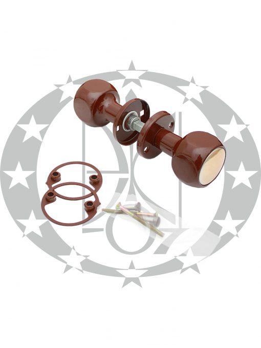 Ручка - галка Гантеля коричнева / золотиста