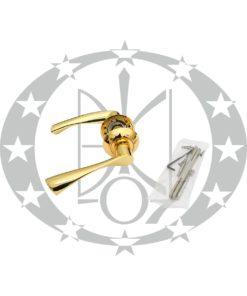 Ручка SAFITA Standard R41 H119 GP розета латунь