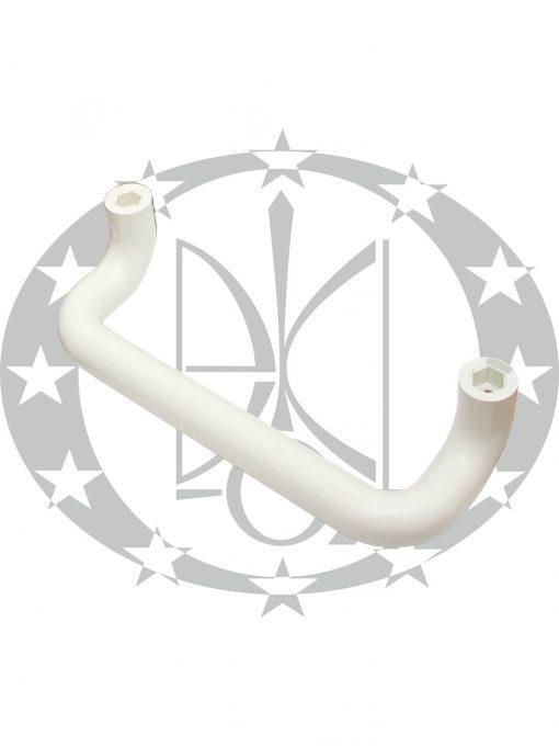Антаба на металопластикові двері ECO пряма біла (34/334mm)