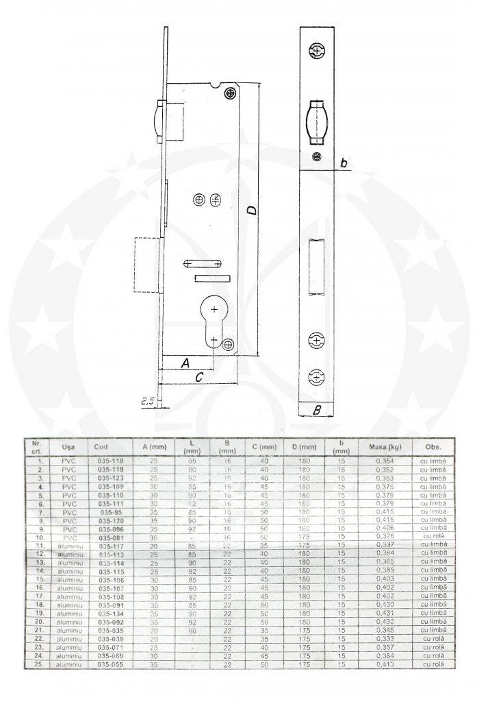 Механізм VEROFER B30Z креслення