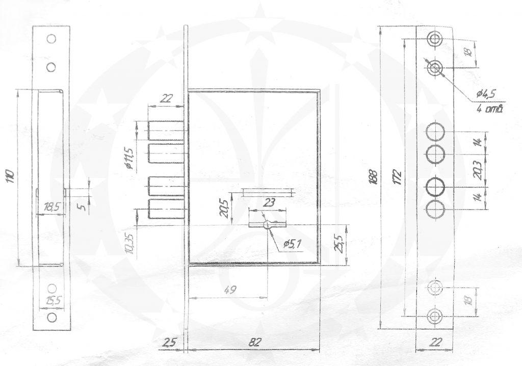Замок МЕТТЕМ-НОРМА ЗВ8 290.0.0 врізний