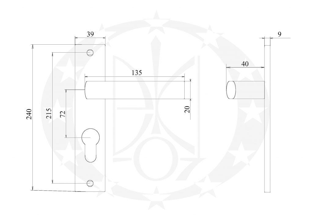 Ручка GAMET UNICO DH-40-18S-Y-72-07-A 72 PZ