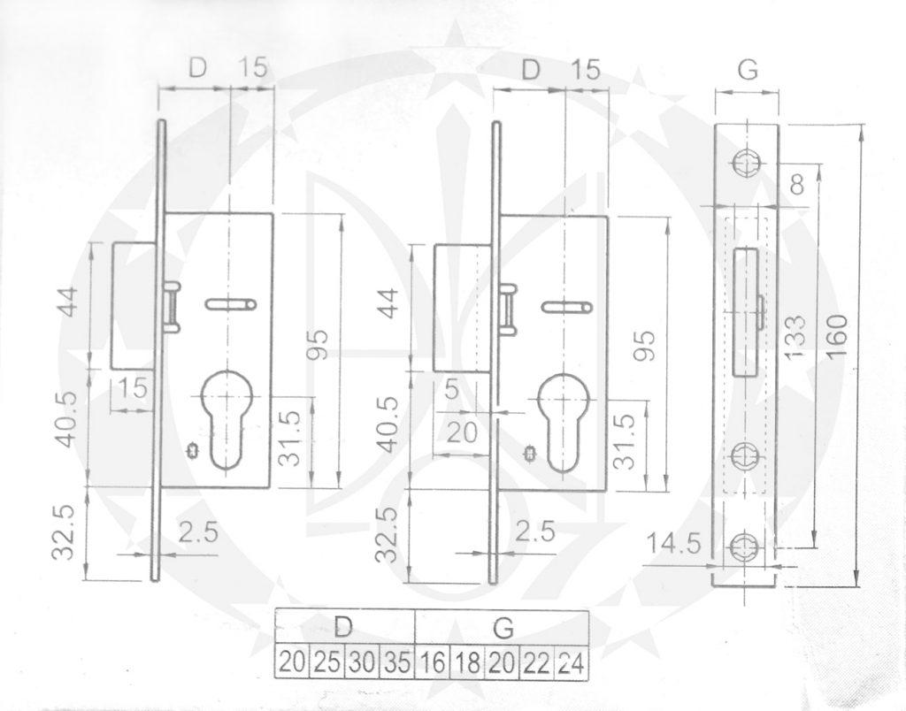 Механізм EURO ELZET EuroPortal /35 PZ 16мм додатковий