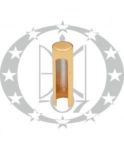 Накладка для завісів LEO Ф14 плоска латунь